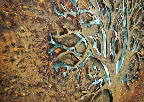3D Autumn Tree Rusted by Ironbark Metal Design