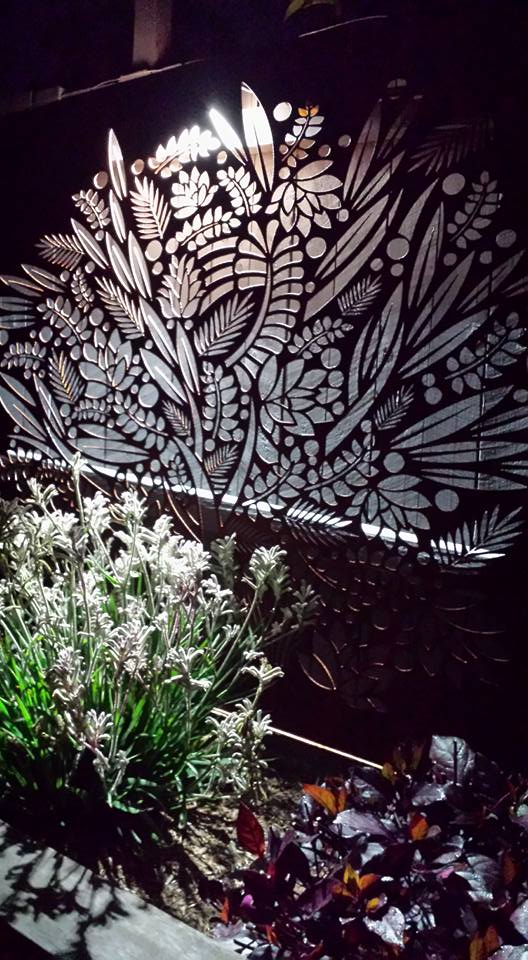 Floral garden screen by Ironbark Metal Design