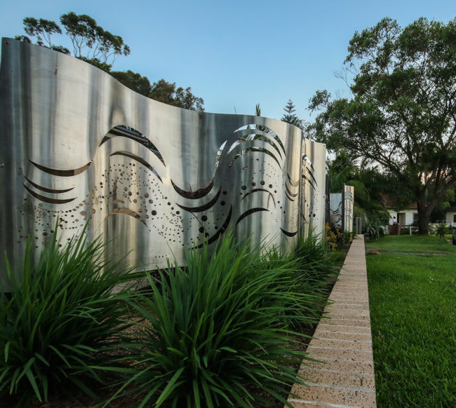 Coastal Wave Garden Screen by Ironbark Metal Design