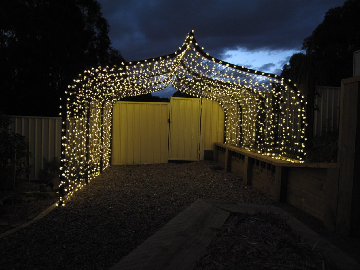 Bespoke Garden Arbour - Iron Bark Metal Design