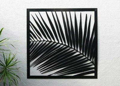 Palm Frond Wall Art by Ironbark Metal Design