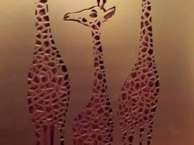 Giraffe Family by Ironbark Metal Design