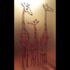 Giraffe Family Wall Art in Gold Powder Coated Aluminium