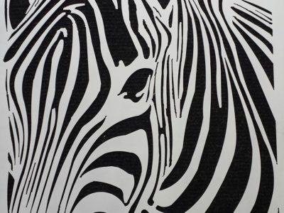 Zebra Abstract by Ironbark Metal Design