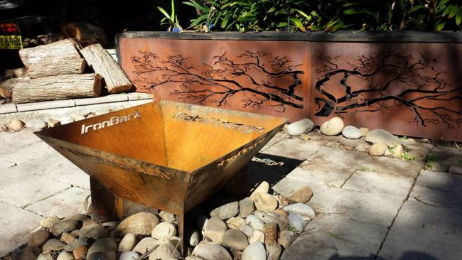 Pyramid Fire Pit by Ironbark Metal Design