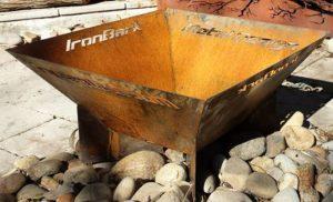 Pyramid Fire Pit by Ironbark Metal Design