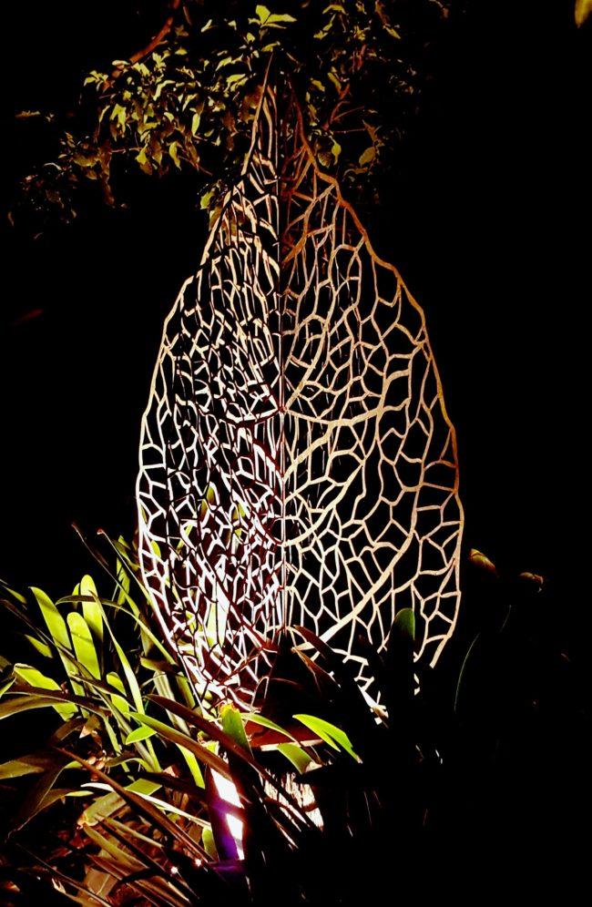 Lace Leaf Sculpture by Ironbark Metal Design