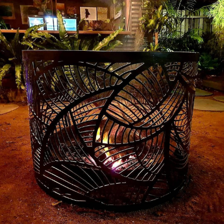 Large Round Fire Pit with Cool Breeze Pattern