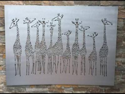 Giraffe Tower Wall Art