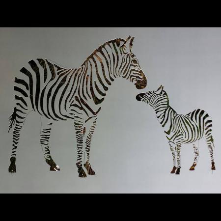 Zebra & Foal Wall Art