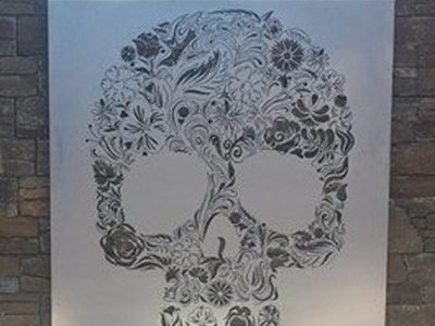 Candy Skull/Calavera Wall Art by Ironbark Metal Design