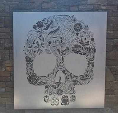 Candy Skull/Calavera Wall Art by Ironbark Metal Design