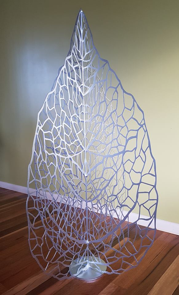 Silver Lace Leaf by Ironbark Metal Design