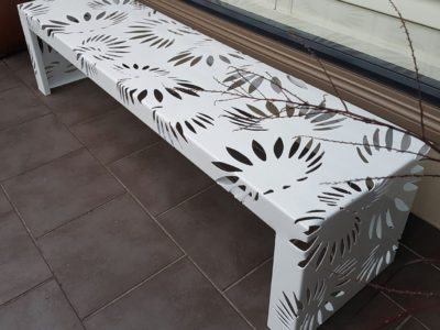 Metal Art bench Seat by Ironbark Metal Design