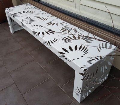 Metal Art bench Seat by Ironbark Metal Design