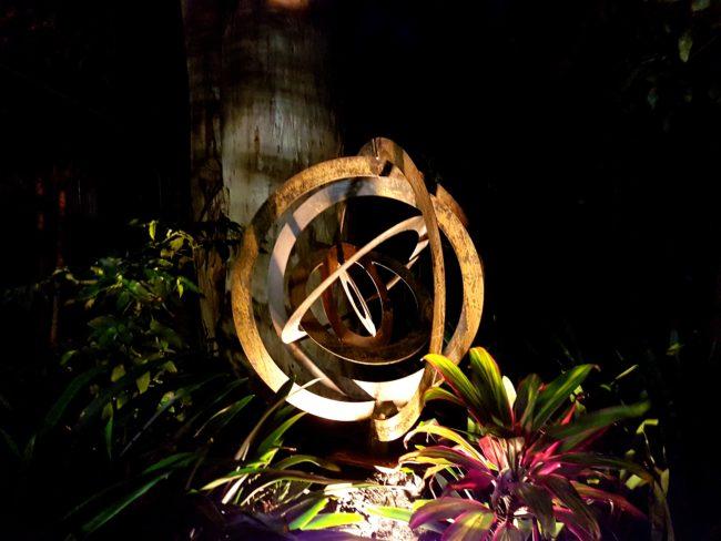 Eccentric Sculpture in Corten Steel by Ironbark Metal Design