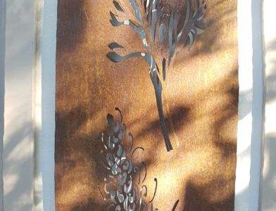 Greavillea Duo 3D by Ironbark Metal Design