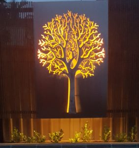 Autumn Tree 3D with Backlighting by Ironbark Metal Design