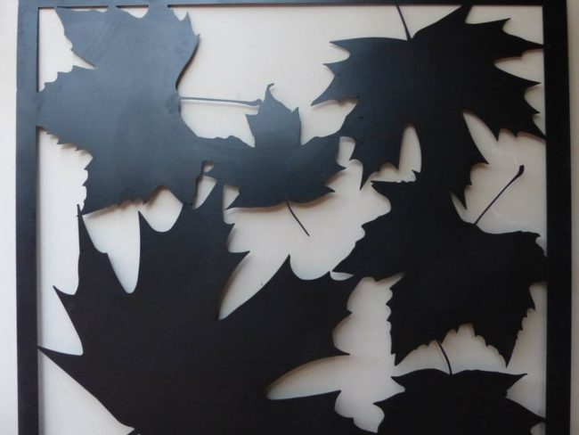 Autumn Leaf Wall Art by Ironbark Metal Design