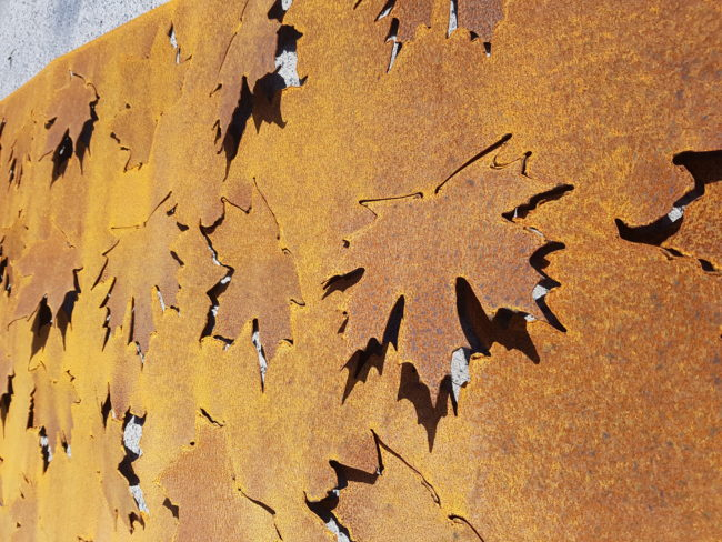 Autumn Leaf push-pull Pattern by Ironbark Metal Design