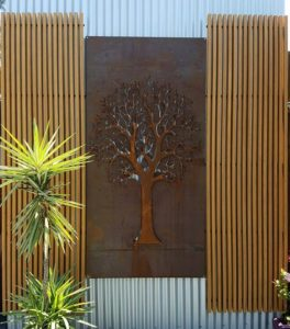 Autumn Tree 3D framed by Ironbark Metal Design
