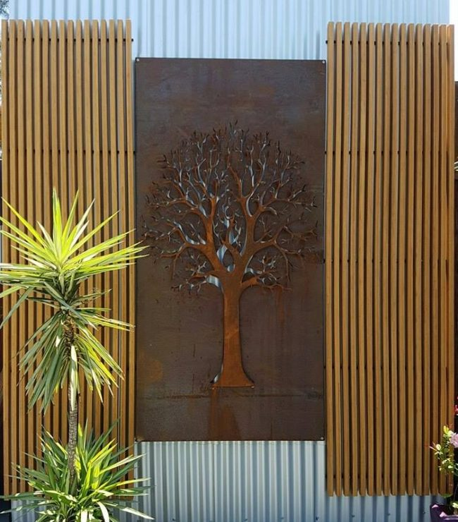 Autumn Tree 3D framed by Ironbark Metal Design