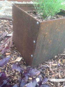 Square Planter by Ironbark Metal Design