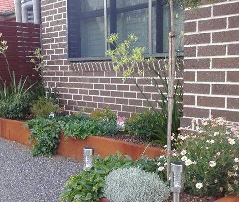 Garden Edging in Corten Steel by Ironbark Metal Design