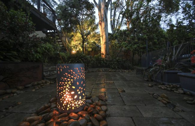 Small Round Fire Pit In Fanfare Pattern