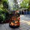 Medium Round Fire Pit - Autumn Leaf Neg