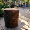 Medium Round Fire Pit - Matchstick Banksia with Lid