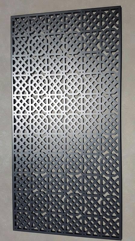 Moorish Privacy Screen Iron Bark Metal Design