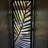 Palm Frond Security Door by Ironbark Metal Design