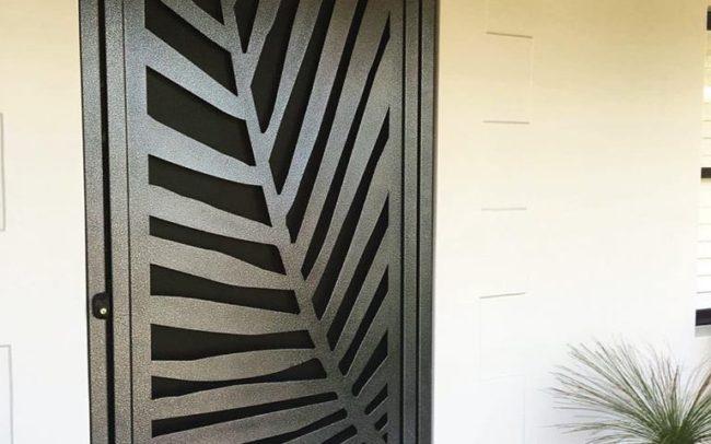 Palm Frond Security Door by Ironbark Metal Design