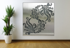Pisces Wall Art by Ironbark Metal Design