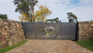 Corten Steel - Sliding Gate by Ironbark Metal Design