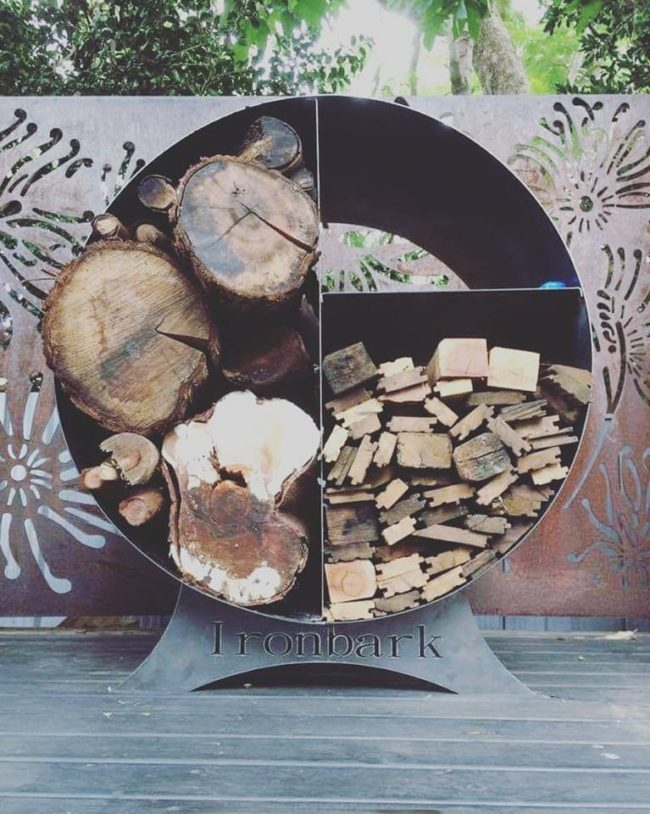 Fire Wood Stacker by Ironbark Metal Design