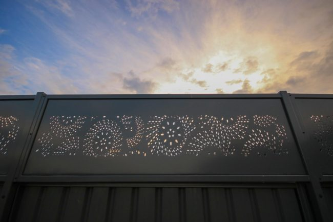 Fence Topper - Fanfare Pattern by Ironbark Metal Design