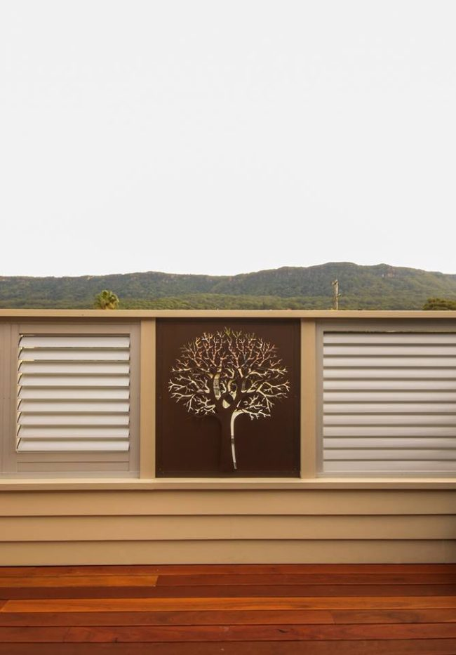 Privacy Screen - 3D Autumn Tree Pattern by Ironbark Metal Design