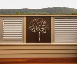 Privacy Screen - 3D Autumn Tree Pattern by Ironbark Metal Design
