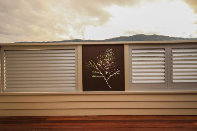 Privacy Screen - Grevillea Pattern by Ironbark Metal Design