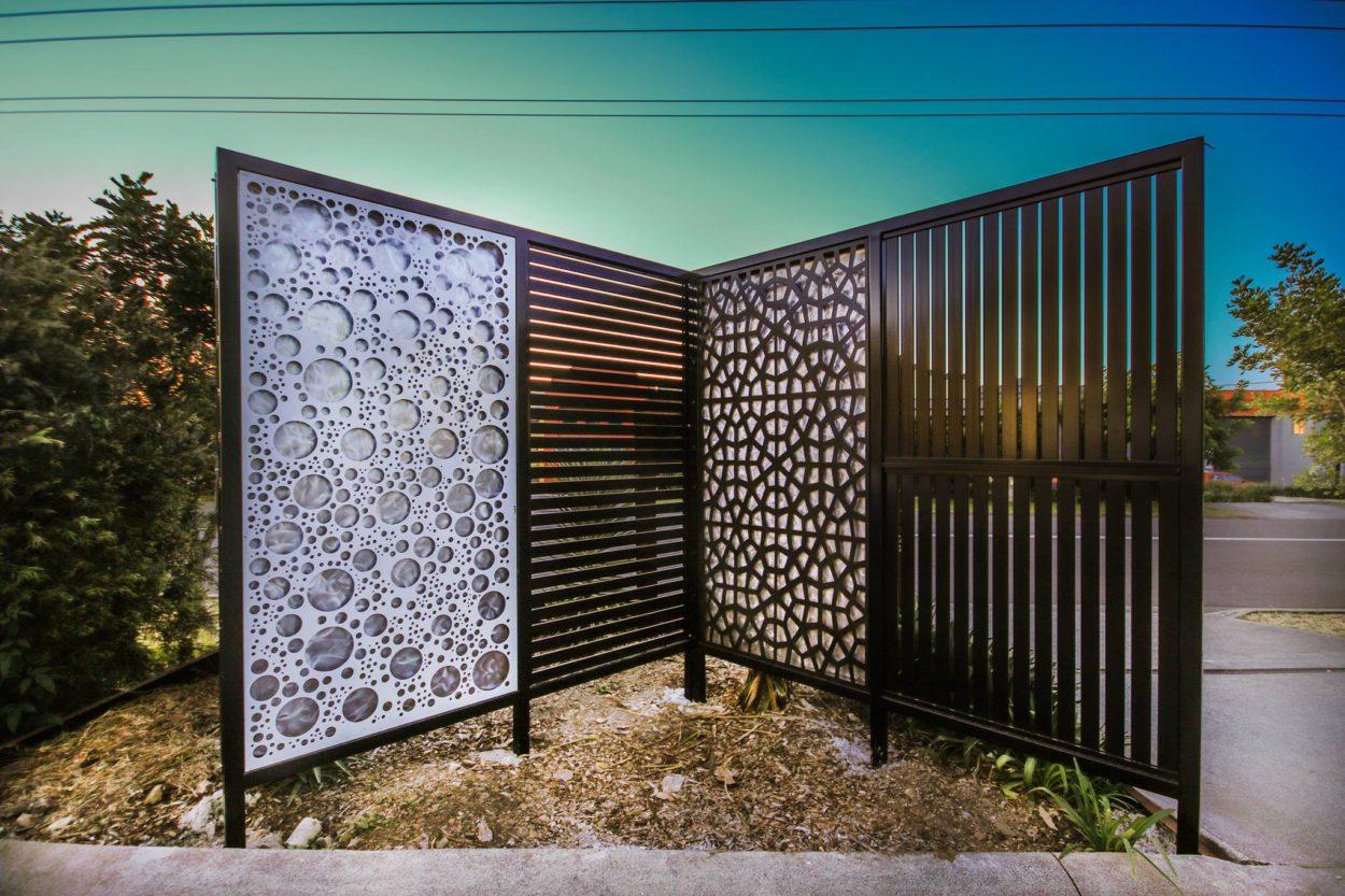 Metal Privacy Screen : Landscape privacy screens iron bark metal design