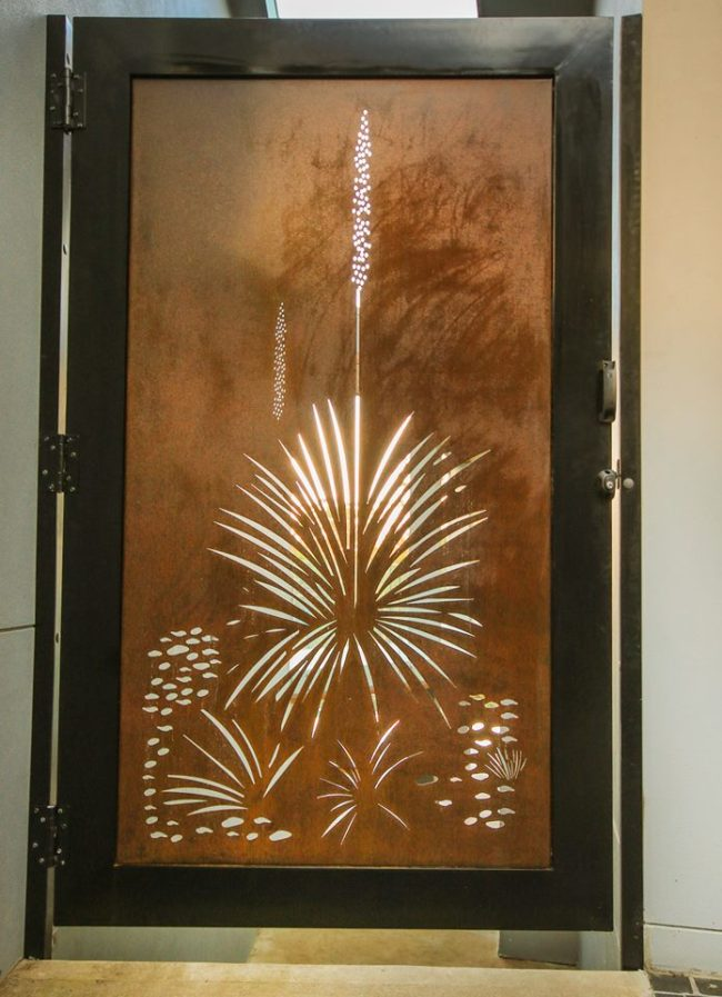 Security Gate - Xanthorrhoea by Ironbark Metal Design