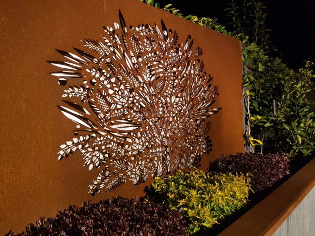Floral Fresco Privacy Screen by Ironbark Metal Design
