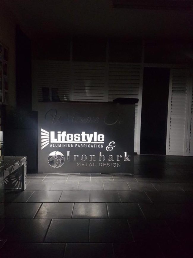 Lifestyle Signage lby Ironbark Metal Design