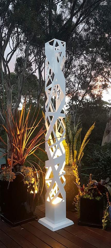 Cross Hatch Light Tower by Ironbark Metal Design