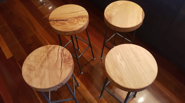 Bespoke Bar Stool by Ironbark Metal Design