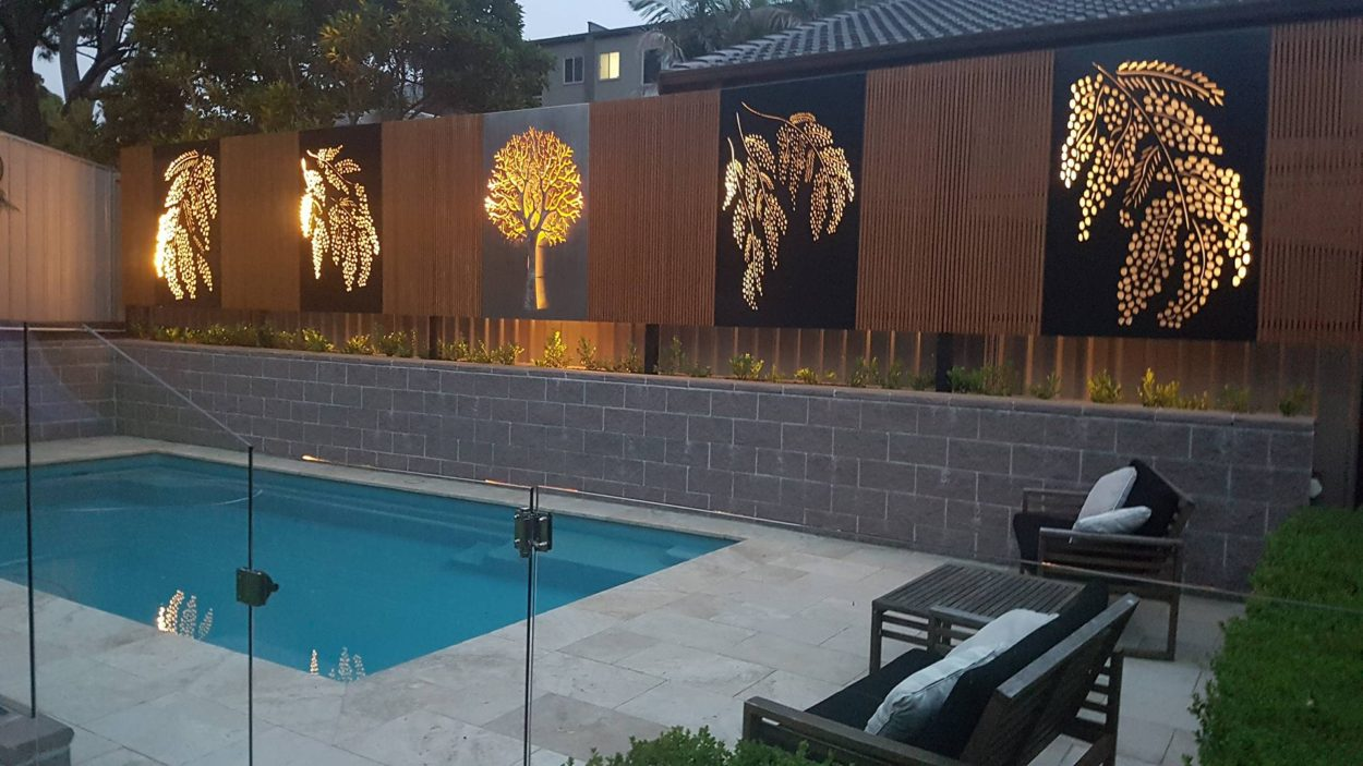 Landscape Amp Privacy Screens Iron Bark Metal Design