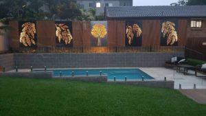 Decorative Screens - Pool Area by Ironbark Metal Design