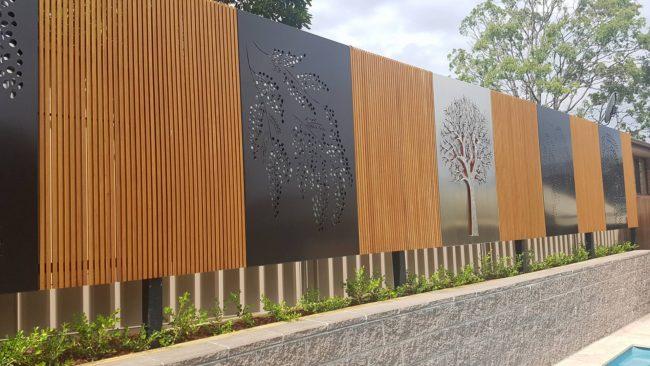 Decorative Screens - Pool Area by Ironbark Metal Design
